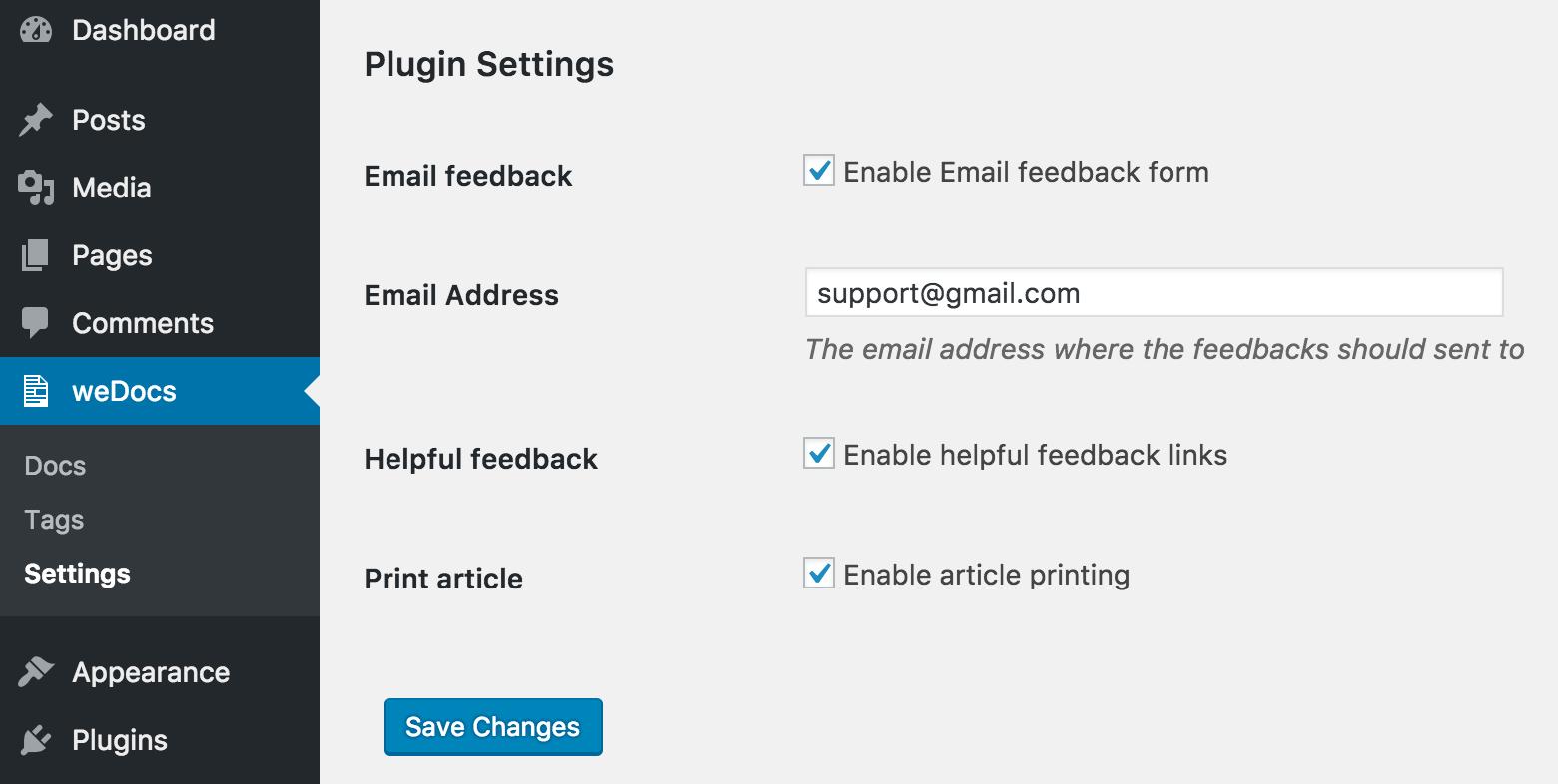 wedocs-plugin-settings
